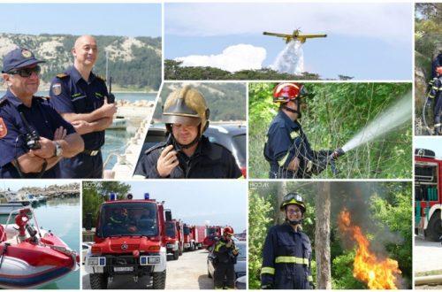 Na Rabu održana kompleksna vježba gašenja otvorenog požara – Vatrogasni desant na Lopar s kopna, mora i iz zraka