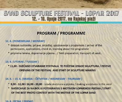 6. Festival skulpture u pijesku i foto-natječaj na temu loparskog pijeska