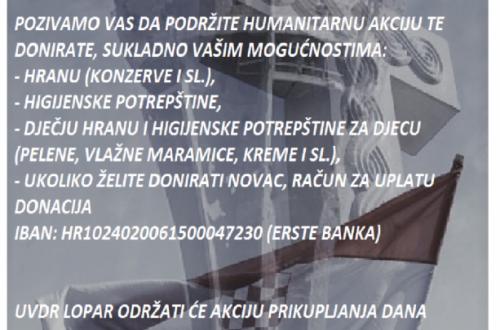 """Humanitarna akcija """"Vukovar živi 365 dana"""""""