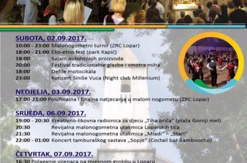 Program obilježavanja blagdana Male Gospe i Dana općine Lopar